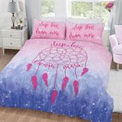 Dream More Pink/Blue Reversible Duvet Set
