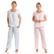 Ladies Short Sleeve Pyjamas Seapearls
