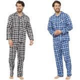 Mens Traditional Check Printed Flannel Pyjamas