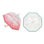 Clear Dome Umbrella Bird/Butterfly Design