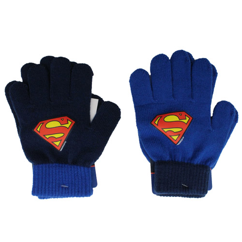 Official Childrens Superman Knitted Gloves