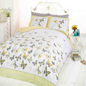 Flutter Yellow Duvet Set