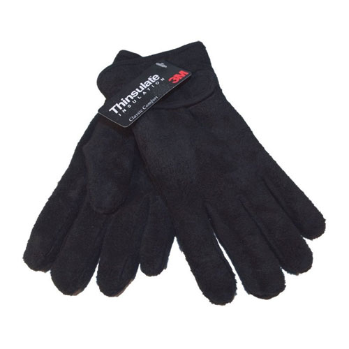 Childrens Thinsulate Fleece Lined Gloves With Cuff Adjuster