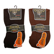 Big Foot Extra Wide Diabetic Mens Socks Assorted