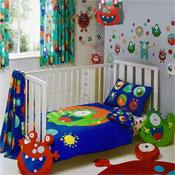 Little Monsters Toddler Bed Duvet Set