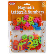 Magnetic Letters And Numbers Learning Set