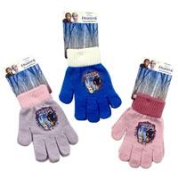 Girls Disney Frozen Knitted Gloves