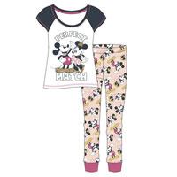 Ladies Official Minnie And Mickey Pyjamas