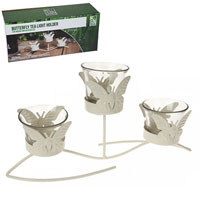 Triple Butterfly Garden Candle Holder