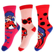Girls Miraculous Ladybug Design Character Socks