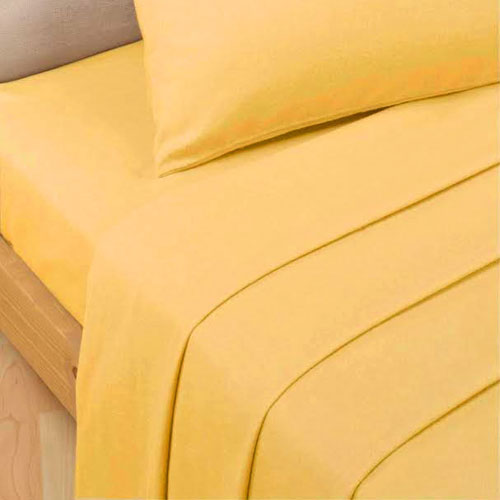 Extra Deep Percale Fitted Bed Sheet Ochre