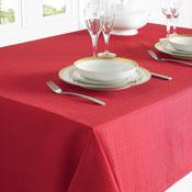 Linen Look Table Cloth Red Medium