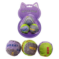 Cat Play Balls With Rattle 3 Pack