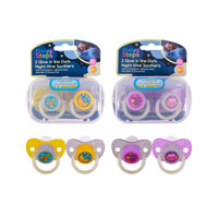 Night time Soother With Steriliser Box 2 Pack