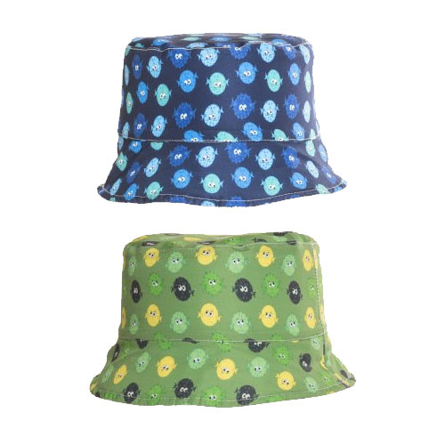 Boys Puffer Fish Print Bush Hat