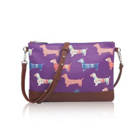 Sausage Dog Mini Cross Body Bag Purple