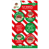 Christmas Elf Badges 6 Pack