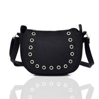 Angela Studded Cross Body Bag Black