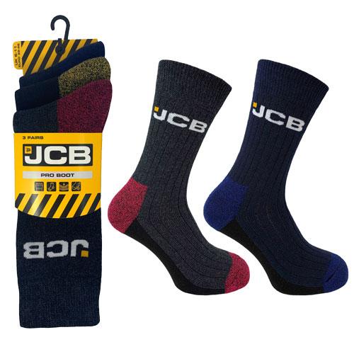 JCB 3 Pack Mens Pro Boot Sock