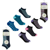 Ladies 3 Pack Bamboo Trainer Socks