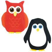 Knitted Hot Water Bottle Owl/Penguin