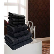 Luxurious Egyptian Black 8 Piece Towel Bale