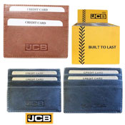 JCB Mens Leather Credit Card Holder