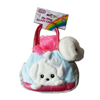Soft Toy Dog In Pet Carrier