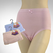 Ladies Pastel Ribbed Mama Briefs