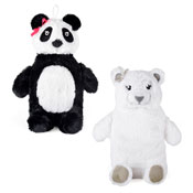 Polar Bear & Panda Hot Water Bottles