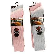 Ladies Long Wool Blend Boot Socks