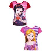 Official Disney Princess Short Sleeve Printed T-Shirt