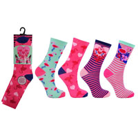 Flamingo Pink Childrens Novelty Socks
