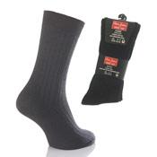Oliver James Wide Top Mens Socks Black