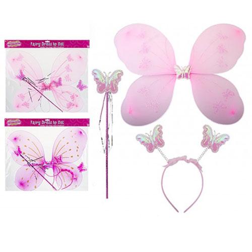 Fairy Wings Wand And Headband Set