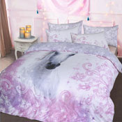 Pretty Unicorn Lilac Reversible Duvet Set
