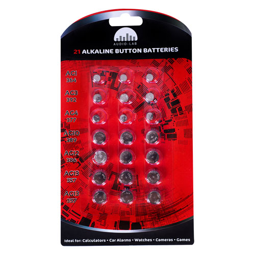 Alkaline Button Batteries 21 Pack