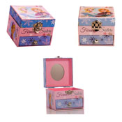 Childrens Frozen Single Drawer Jewellery Box with Mirror