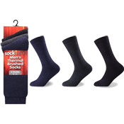 Socksation Mens Brushed Thermal Socks Dark Colours Carton Price