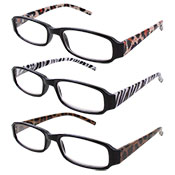 Safari Print Reading Glasses Assorted