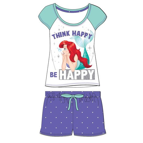 Official Ladies The Little Mermaid Shortie Pyjama Set