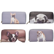 Ladies Card And Coin Purse With Digital Dog Prints