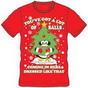 Christmas T-Shirt Red Balls