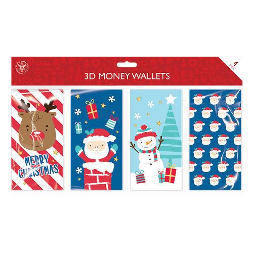 Christmas Design 3D Money Wallets