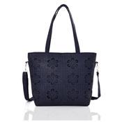 Ladies Lasercut Tote Bag Navy Blue