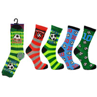 Boys Novelty 3 Pack Footie Champ Socks