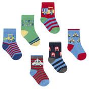 Baby Novelty Design Socks Cars/Digger