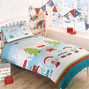 Childrens Christmas Bedding - Snowman