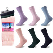 Ladies Winter Thermal Socks Pastel