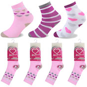 Heart & Stripe Design Kids Novelty Socks